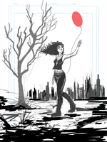 Death - 99 Red Balloons - SKETCH by Theamat