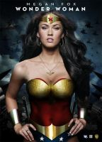 meganfox as a wonder woman by razr310