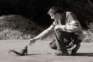 Isac and the Squirrel by micahgoulart