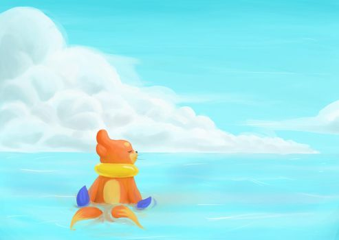 Buddy challenge, Bui at sea by LadyDeven
