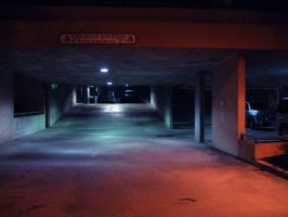 Parking Garage at Night by FANARIS