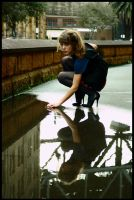 Marie - playing in puddle 2 by wildplaces