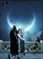 The Vampiress and Death by lizjowen