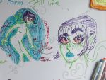 Daughter of Space whiteboard doodles by Emmi-Kat