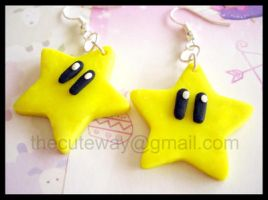 .:Mario Star earrings:. by SaMtRoNiKa