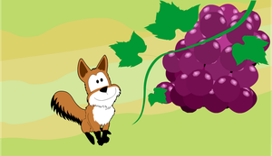 Fox and the grapes by VictorHugo