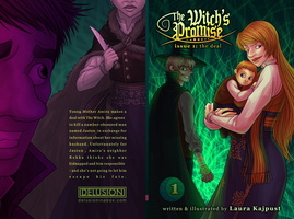 Witch's Promise book 1 cover front/back by DelusionInABox
