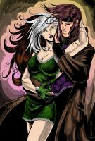 Gambit and Rogue by jmascia