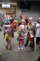 Vanille, Serah, Mog and Lightning by Marjooo