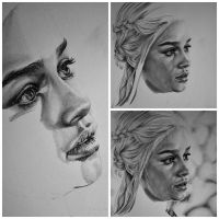 Daenerys work in progress by Fantaasiatoidab