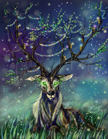 Mystical forest by whitecrow-soul