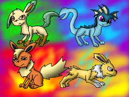 Eevee pack by Lydiadragon