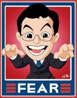 "Stephen Colbert ""Fear"" Sign by kevinbolk"