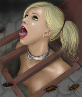 Toilet slave by chain-man