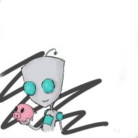 IZ Gir with piggie by Dearest-Nightmares