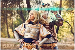 Ezreal and Lux by NunnallyLol