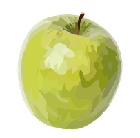Granny Smith Apple by thirteen5designs