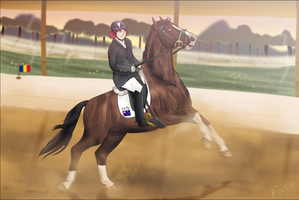 A new dressage movement? by Foxerettes