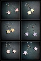 Origami Earrings: pattern star by Silveril