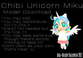 Chibi Unicorn Miku + Download by Aira-Melody