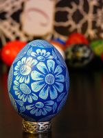 Lithuanian Hand Scratched EGG by teener1416