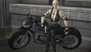 Sonya Blade and Her Ride by tankhawk500