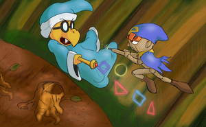 Mario RPG - Geno vs Kamek by Mega-Matt-X