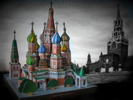 St Basil Cathedral in Moscow Russia by AnnaSulikowska
