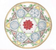 Snow and Holly Mandala by Spiralpathdesigns