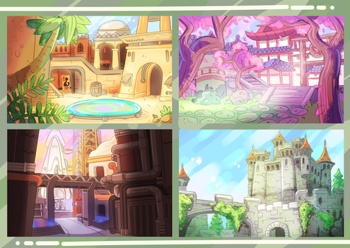 Overwatch Maps by TheOceanOwl