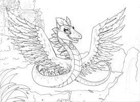 WIP Winged Serpent by Creative-Dreamr