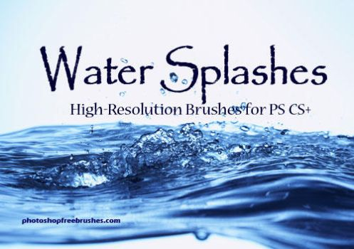 Water Splashes-PS Brush Set by fiftyfivepixels
