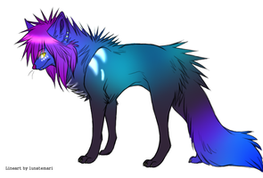 Scene wolf adoptable by MoBAdopts
