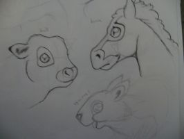 animals doodles by payclo3
