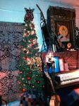 Music Teaching Studio with Christmas Tree by mertonparrish