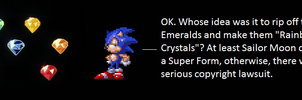 Sonic's Reaction To The Rainbow Crystals by TheWolfBunny