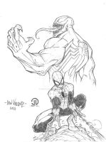 Spiderman Venom pencils by JoeyVazquez