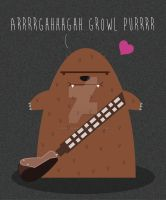 CHEWIE LOVES YOU by coolstergraphics