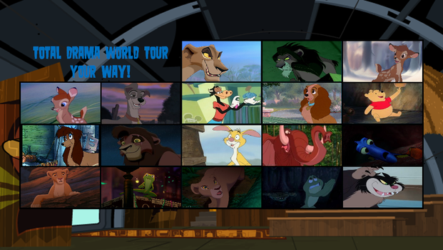 Total Disney Animal World Tour Elimination Order by DEEcat98