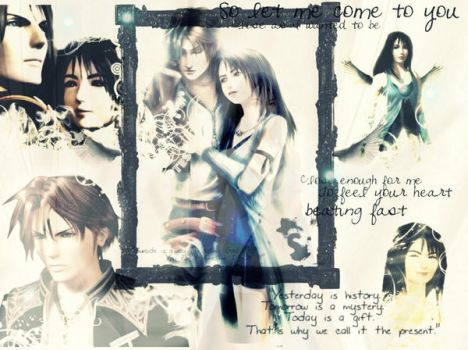 Squall and Rinoa.      FF VIII by miaconstantine