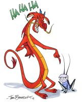 Mushu and Cri-Kee by tombancroft