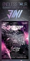 Endless Tour Dubstep DubMixr Flyers 3 in 1 by ShermanJackson