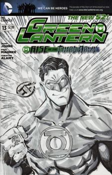Green Lantern - Sketch Cover by josesartcave