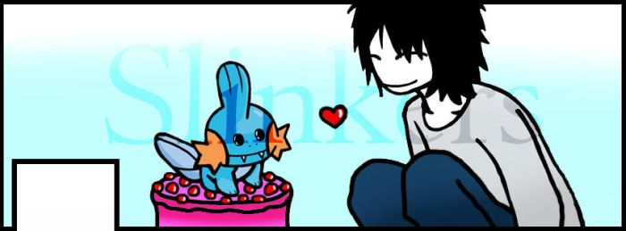 FB Commission - L and Mudkip by Slinkers