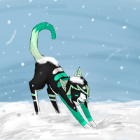 Skye playing in the snow -Request- by Timmingt0n