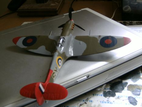 Tuskegee Spitfire completed..... by DelosQAndrews