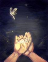 Dragonflies - Hand Study by Risachantag