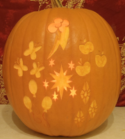 Cutie Mark Pumpkin Light by johwee