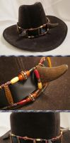 Old West Steampunk Buffalo-Horned Hat Band IV by Windthin