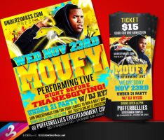 MOUFY Flyer and Ticket by AnotherBcreation